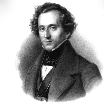 Felix Mendelssohn-Bartholdy, 1837. Lithografie nach einem Gemälde von Theodor Hildebrandt