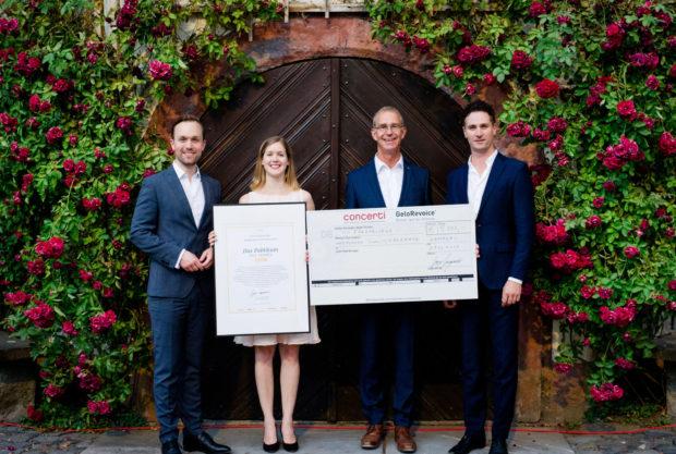 Preisübergabe in Weilburg: Christian Kotterer, Judith Richter, Stephan Schreckenberger und Gregor Burgenmeister