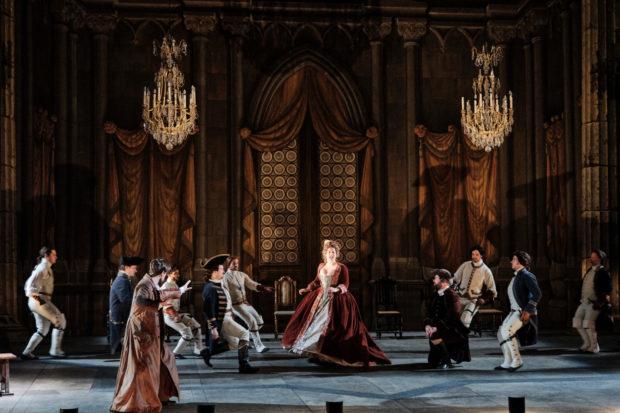 "Szene aus ""Richard Cœur de Lion"" im Schloss von Versailles"