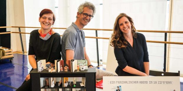 Das Kreativteam: Mila van Daag (Ausstattung), Markus Weckesser (Regie) und Daniela Gerstenmeyer (Konzeption und Idee).